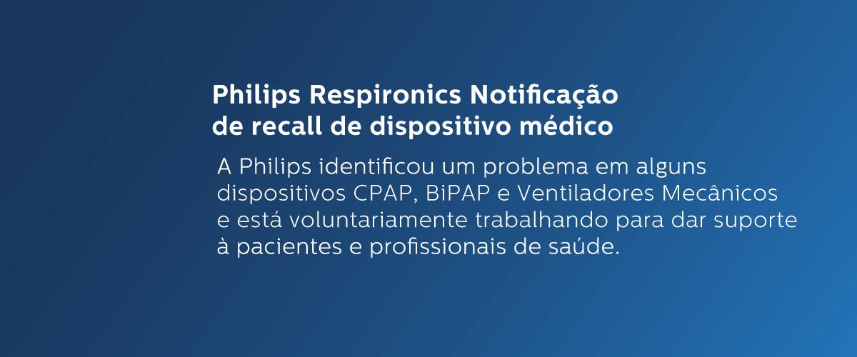 Philips Respironics Notificação